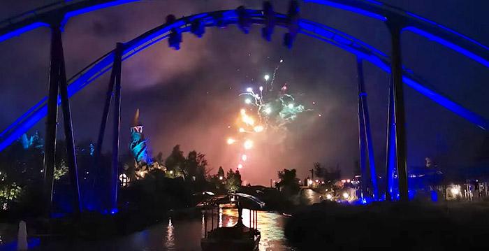 Feuerwerk an vier Veranstaltungsorten im Toverland bei Partyabenden für Abonnenten