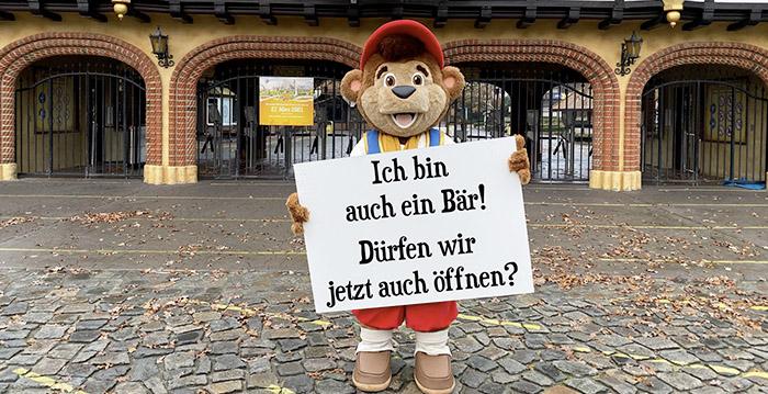Das Maskottchen des deutschen Vergnügungsparks ist eifersüchtig auf die Zoos: `` Ich bin auch ein Bär