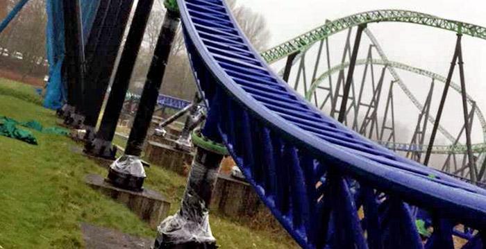 Walibi Holland deelt nieuwe beelden van blauwe Goliath ...