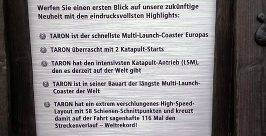 Re: Phantasialand 2016: Klugheim met multi launch coaster Taron