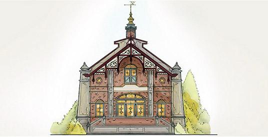 Dit wordt de ingang van efteling achtbaan baron 1898 looopings - Een gang ingang ...