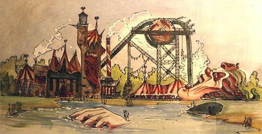 Walibi holland komt met parodie op efteling achtbaan baron 1898 39 clown 2007 39 looopings - Grot ontwerp ...
